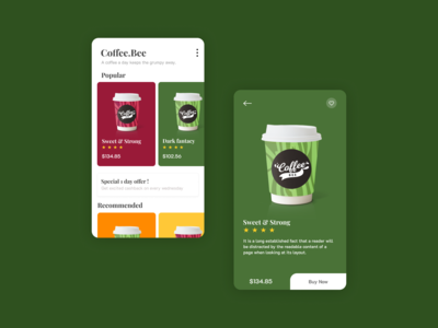Coffee.Bee - App UI Design