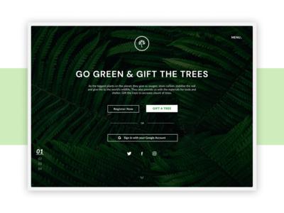 Desktop UI - Donate Trees