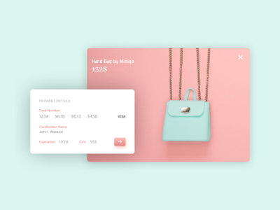 UI Design for credit card checkout