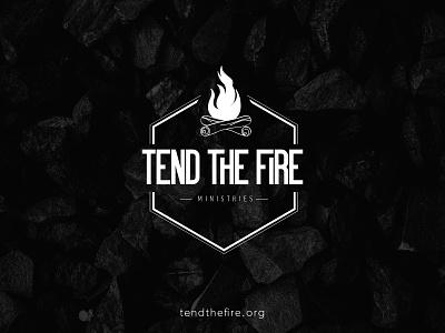 Tend the Fire Logo ministry non-profit christian men mountains outdoor mountain logo branding design