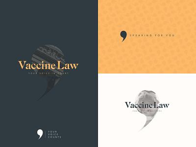 Vaccine Law Brand Identity speech bubble voice bubble voice law firm law logo branding design