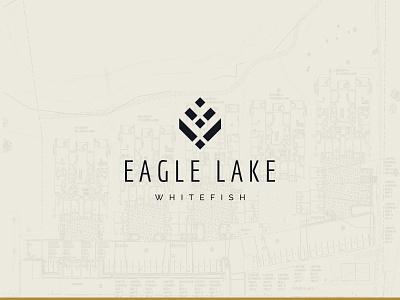 Eagle Lake Logo montana whitefish condo brand identity real estate logo branding design