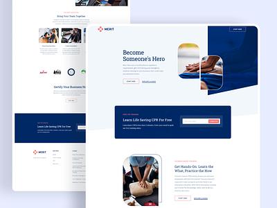 Merit Homepage cross cpr first aid emergency ux ui website web design