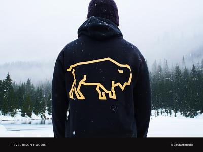 Revel Bison Hoodie hoodie swag bison vector real estate logo branding design