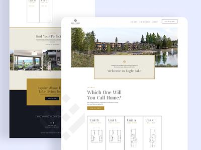 Eagle Lake Whitefish Homepage condo ux ui website web real estate design