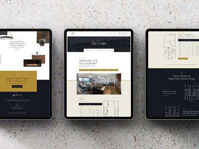 Eagle Lake Units Screens condo ux ui website web real estate design