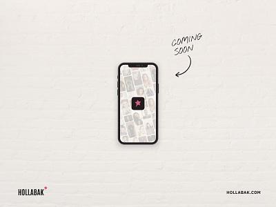 Hollabak - Coming Soon hairstyle hair app vector logo branding design