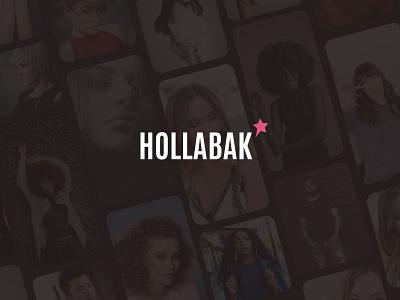 Hollabak Logo app star stylist hair style haircare hair logo branding design