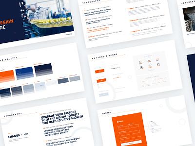 SensrTrx UI Design System ui elements ui system system design system ux ui website web branding design