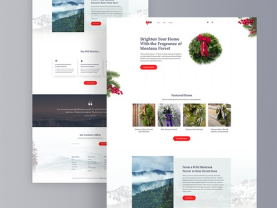 Montana Wreaths Website Redesign
