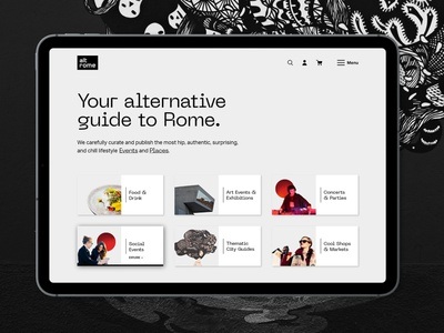 altrome (travel & lifestyle guide to alternative Rome) photography user research product design interactiondesign ux  ui