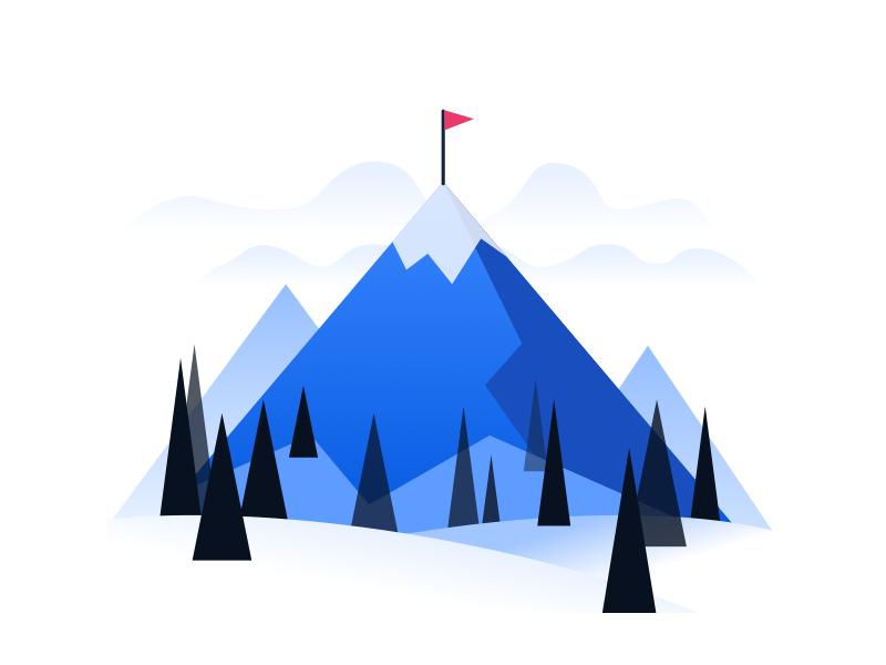 Set an objective objective goals okr mountain