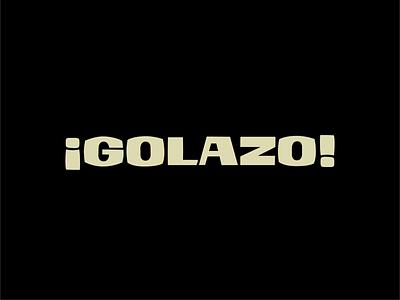 ¡Golazo! vintage typography type design display fonts