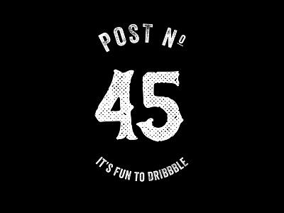 #45 dribbble 45 black and white random
