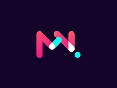 MN Concept Logo joyful gradients brand identity logo