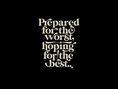 Worst & Best duotone quote type art typeface lettering letters
