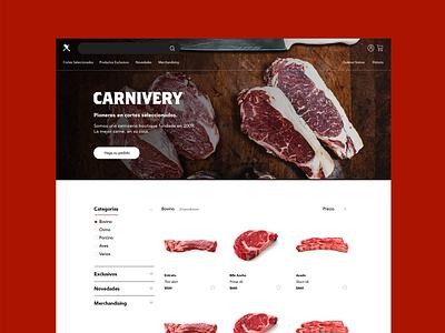 Carnivery Website ecommerce shop ecommerce website product branding product design digital branding branding