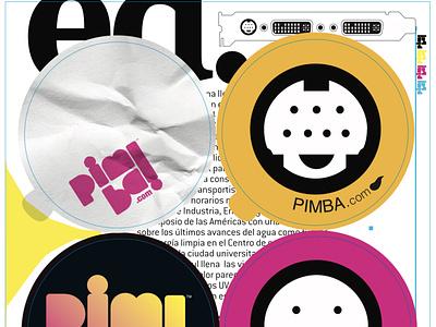 pimba.com stickers 1/2 graphic design cmyk stickers