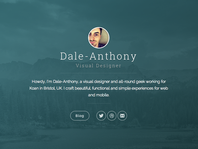 New personal website / Ghost theme personal blog portfolio cover landing ghost