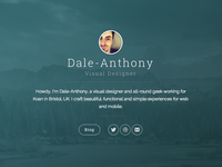 New personal website / Ghost theme