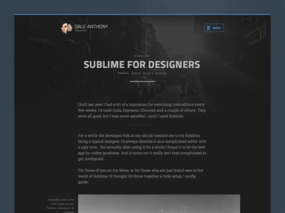 Ghost theme - Dark ghost blog article post dark theme