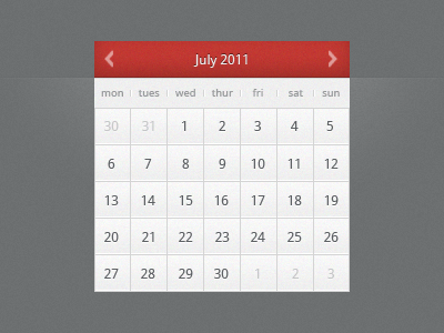 Calendar calendar month date picker