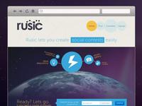 Rusic - landing page