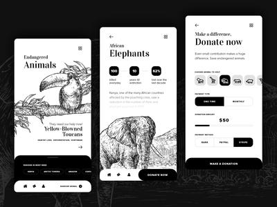 Endangered species app concept