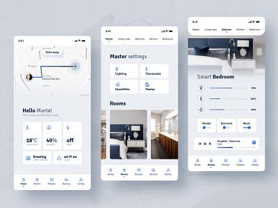 Smart Home app ui design app interior design ux ui uiux mobile ui application mobile smart home app smart home smarthome smart