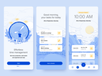 Productivity Watch fireart mobile ui illustration ui design application mobile ux drawing design ui