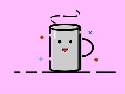 Coffee Cup cute design vector icon illustration illustrator mbe style mbe cup coffee coffee cup