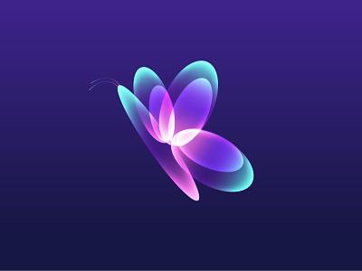 Butterfly illustrator nature illustration fantasy illustration glow light space dream butterfly nature