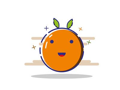 Orange graphic design illustrator fruit illustration vector mbe style mbe cute