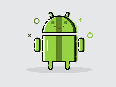 Android logo illustrator identity vector illustration android