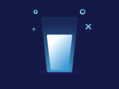 A cup of milk design icon ux ui glass brand identity mbe illustrator illustration cup milk
