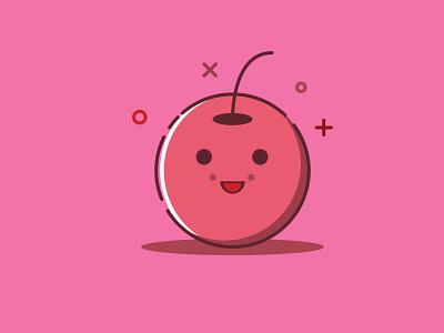 Cherry identity flat design illustrator design cute character design icon illustration cute illustration cherry fruit
