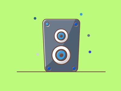 Speaker icon music design illustration flatdesign vector logo sound speaker illustrator