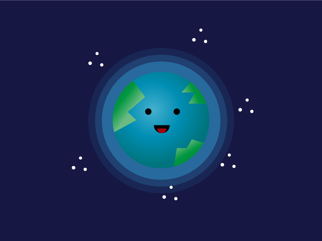 Earth earth cosmos planet illustrator vector mbestyle mbe