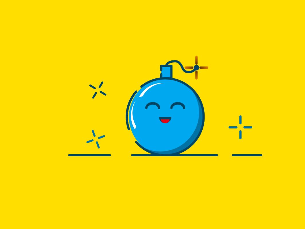 Bomb vectorillustration illustrator icon design graphicdesign mbestyle mbe bomb