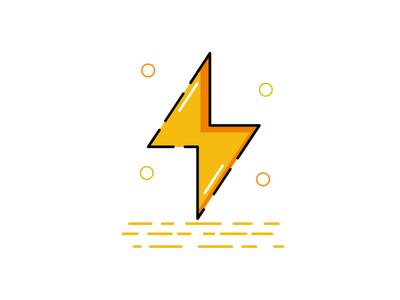 Zigzag lightning energy zigzag vector logo icon illustration mbe style mbe