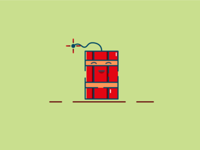 Dynamite character design character mbe style flat design flat tnt icon logo illustration mbestyle mbe bombs bomb dynamite
