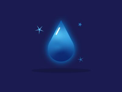 Drop vector identity brand illustration mbe logo icon water