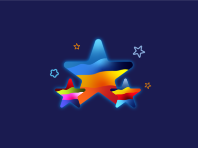 Stars identity illustration vector astro cosmos mbe logo brand space stars star