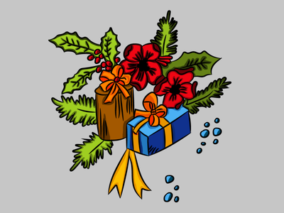 Gifts vectorart artwork vector cartoon holidays christmas illustrator