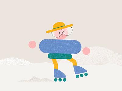 Skater animation 2d artwork after effect photoshop illustrator skater character animation character illustrator character characterdesign motion design