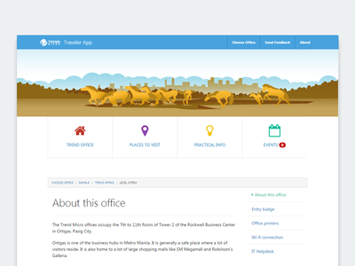 Las Colinas Banner mustangs horse lascolinas website webdesign web landmarks illustration google flat banner