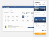 Singapore Airline Concept Design - Flight Summary