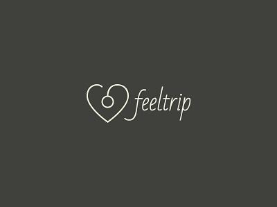 Feeltrip Logo feel trip logo travel heart map point app icon