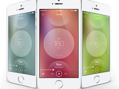 Second Wind second wind app sport fitness ios7 player music ui ux