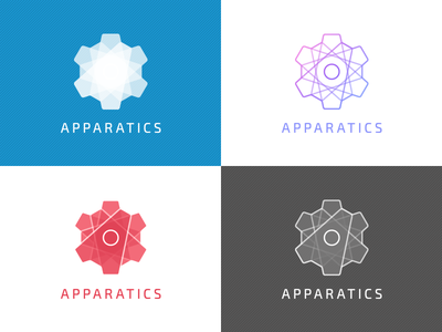 Apparatics final logo set logo app apparatus device a machine apparatics simple clean set